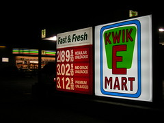 Kwik E Mart sign, Dallas