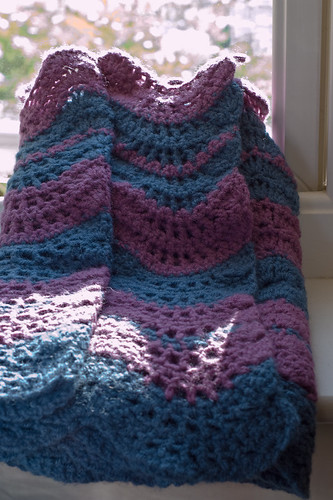 Wavy crochet wrap