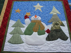 State Fair Christmas Quilt/Block - Snowman (picsbyrita) Tags: christmas december quilt august monthly hunt scavenger quiltblock christmasquilt twtmecreativechallengemosiac 2007kentuckystatefair 1207sh5