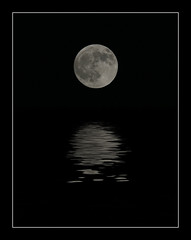 Full Moon Reflections - by peasap