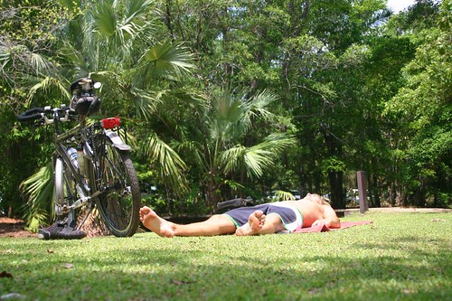 Taking a nap in the sun, Berry Springs, NT, Oz.