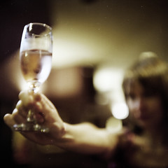Sandy + Wine + bad focusing (memetic) Tags: 120 6x6 glass mediumformat fuji collingwood wine bokeh tl melbourne www pro pentaconsix britishcrown 800z