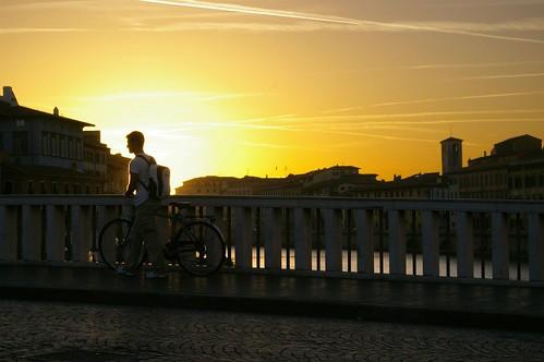 Pisa Puente bicicleta