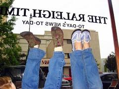 Happy FUTAB From Raleigh! (abbyladybug) Tags: tara abby raleigh shenanigans fridayafternoon raleightimes futab feetuptakeabreak