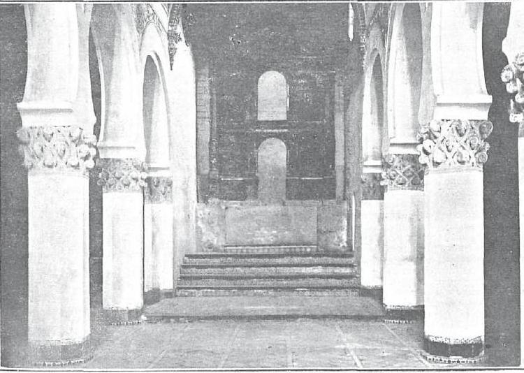 Sinagoga de Santa María la Blanca hacia 1920