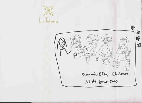 Un dibujo de Alita Moras: Etsy Craft Party en Santiago