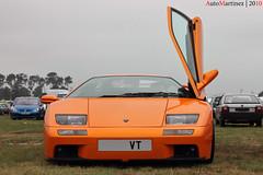 Lamborghini Diablo VT - 24h du Mans 2010 (Automartinez) Tags: camping orange canon eos parking du course mans le diablo 1855mm endurance bugatti circuit lamborghini efs alban vt 2010 24h 60l anglais sarthe 500d joachin comptition automartinez