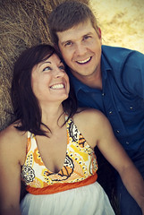 Elaine and Dustin. (Lumi Creative Studio) Tags: street justin trees light summer portrait sky people color love girl field fashion photography model cowboy couple day texas boots photos country hay