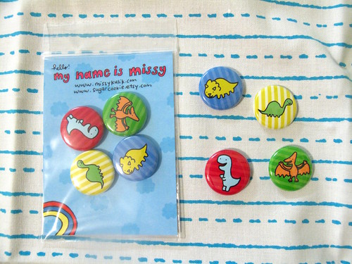 Dinosaur Button Set