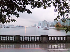 First REAL Autumn Rain (FernShade) Tags: autumn canada rain weather vancouver reflections harbor haze britishcolumbia seawall pacificnorthwest rainfall downpour