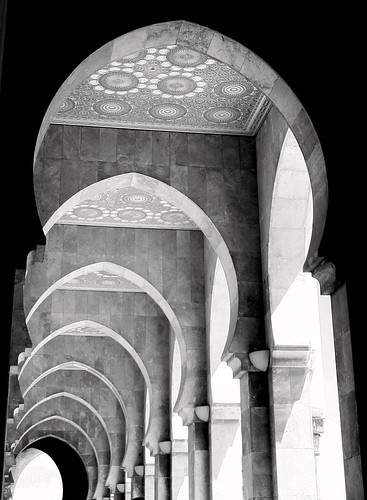 Walkway @ Hassan II Mosque in Casablanca