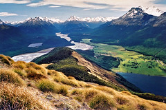 Isengard (Daniel Murray (southnz)) Tags: newzealand mountain lake river landscape nationalpark scenery paradise lotr nz southisland alfred lordoftherings tussock sylvan middleearth diamondlake earnslaw glenorchy mountaspiring dartriver naturesfinest mta