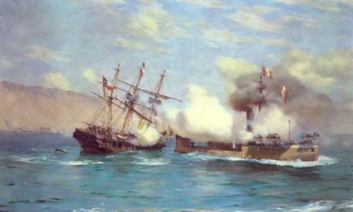 La Esmeralda Y El Hu  Scar El 21 De Mayo De 1879  En Iquique