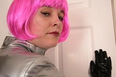 IMG_1603 (traveller-28) Tags: fun gun boots ufo retro scifi homage kinky catsuit pvc spacegirl pvccatsuit