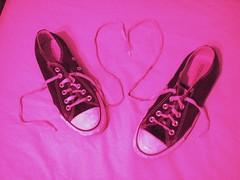 pink converse heart