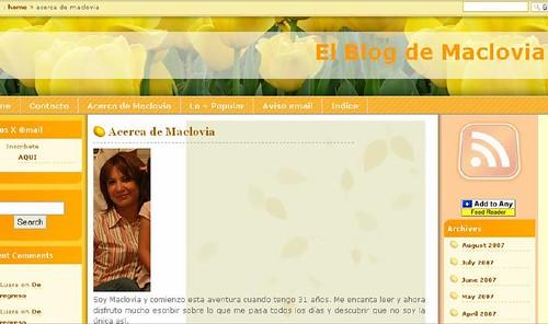 El blog de MACLOVIA