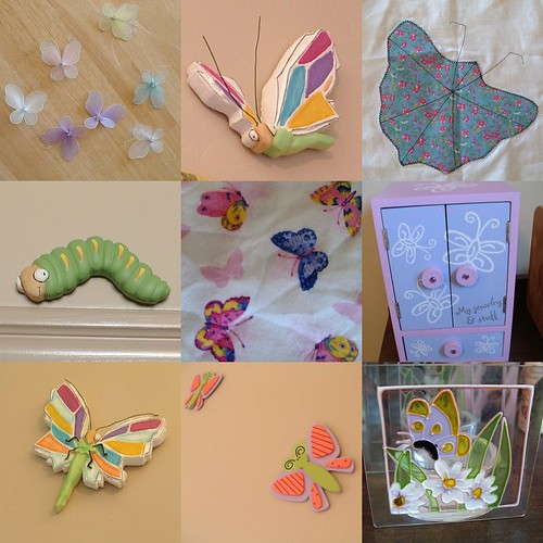 butterfly bedroom items so far