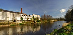 River Maine and derelict factory