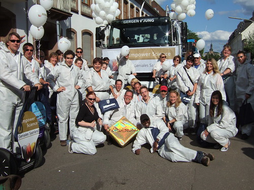 Empower Science - Geniales Saarland - Parade Team