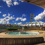 Olympic Stadium Fountain on a beautiful summer afternoon | Montreal, Canada | davidgiralphoto.com