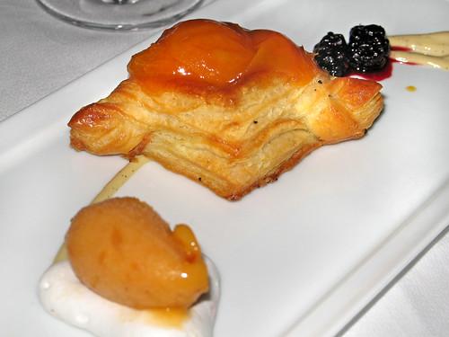 Apricot Vol au Vent with Apricot Sorbet