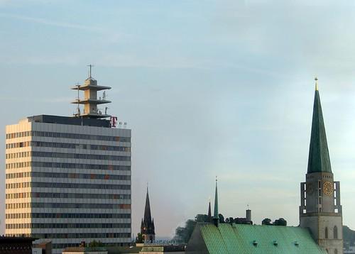 kondensierte Bielefelder Skyline