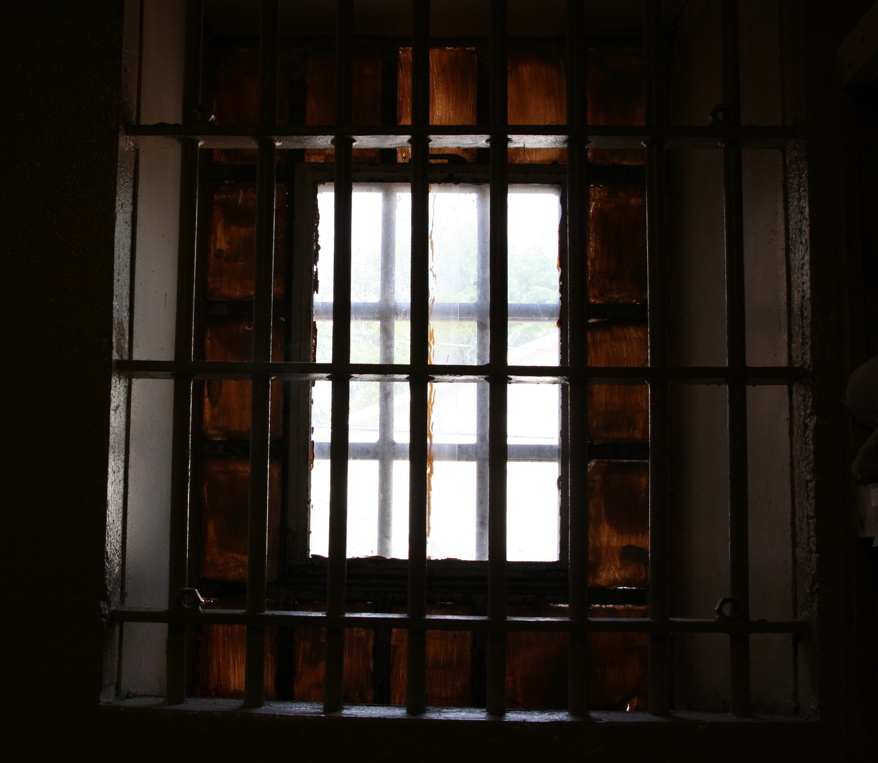 "Window of the ""Starkville City Jail"""