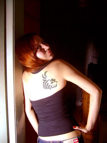 Cheshire Cat Tattoo by Fê ★