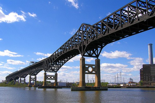 Pulaski Skyway over Hackensack River, New Jersey