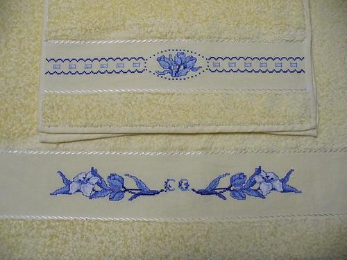 Schemi punto croce asciugamani bagno grande raccolta di schemi e
