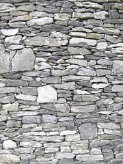 Modern dry stone wall