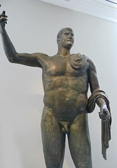 Bronze statue of the emperor Trebonianus Gallus Roman 251-253 CE found near the church of Saint John the Lateran in Rome (mharrsch) Tags: sculpture newyork statue bronze roman gallus emperor metropolitanmuseumofart 3rdcenturyce mharrsch