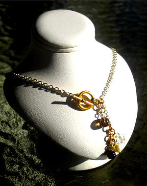 Two Tone Family Necklace I