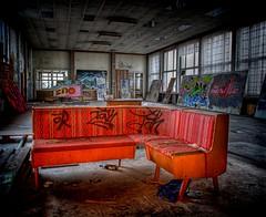 Hall of Modern Art (Batram) Tags: art abandoned modern train graffiti hall paint raw decay railway urbanexploration workshop bahn hdr speisesaal urbex werkstatt reichsbahn lostplace batram trainrepairshop reichsbahnausbesserungswerk veburbexthuringia vanishingextraordinarybuildings