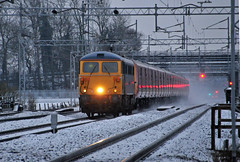 Night Mail (robmcrorie) Tags: snow train warrington iron post mail rail railway loco trains class catch locomotive enthusiast railways railfan warwickshire 87 willesden 1f00 87002 cathiron 325013 325009 87cathiron