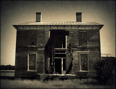 Darkness Within (History Rambler) Tags: old house abandoned home architecture rural dark south neglected northcarolina historic haunted creepy spooky southern plantation weathered lonely antebellum decayed tinroof martincounty greekrevival oncewashome