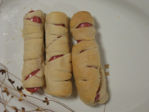 mummy hotdogs!