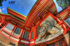 Kitano Tenmangu (LaZonePhoto.Fr - Fabien Marty Photographie) Tags: japan canon temple kyoto shrine asia fisheye kitano asie 8mm japon hdr tenmangu samyang eos400d fabienmarty krispix2007 lzpjapon