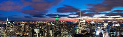 NYC Panorama (ajagendorf25) Tags: life new york city nyc newyorkcity blue sunset panorama building green clouds square nikon state manhattan center empire times chrysler 1855 rockefeller met topoftherock 30rock d90 ajagendorf25 alexjagendorf