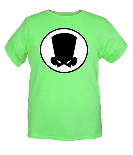 Fanboy And Chum-Chum Green Logo T-Shirt