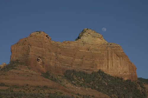 Moon Rising Over Sedona