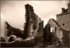 Dunnottar Castle Ruin (manipulated) - by spodzone