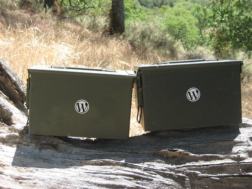 WordPress Schwag Cache Ammo Boxes