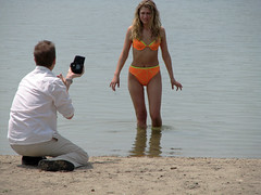 Unhappy Model and Photographer at Sunnyside - by Bobcatnorth