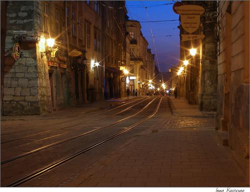 Lviv at twilight