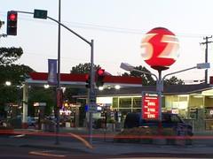 20070619 Revolving 76 Ball (Tom Spaulding) Tags: california ca longexposure sign gasstation sacramento union76