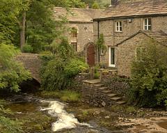 Kettlewell cottages (~Glen B~) Tags: uk bridge england river stream yorkshire cottage steps dales kettlewell
