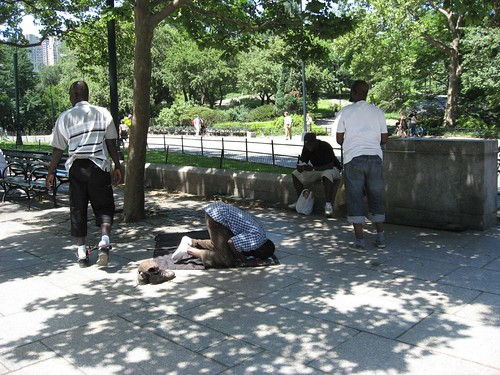 Muslims saying their prayer Central Park