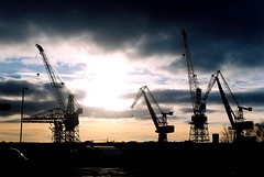 Wallsend Sunset (Cul 9) Tags: cranes wallsend shipyards swanhunters