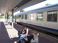 Waiting at Aix-en-Provence SNCF station